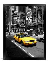 Yellow Cab Manhattan, Framed Print