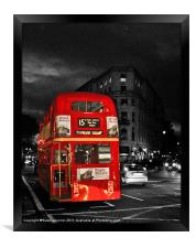 Red London Bus, Framed Print