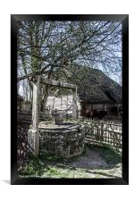 Water Well and Farmyard, Framed Print