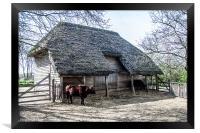 Cowfold Barn, Framed Print