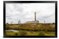Grain Power Station, Framed Print