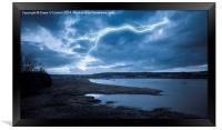 River Medway Lightning, Framed Print