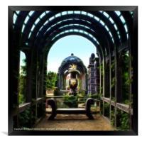 Arundel Garden Arch, Framed Print