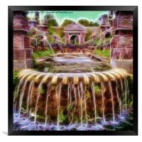 Arundel Castle Garden Pond, Framed Print