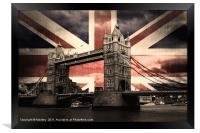 Union Jack London, Framed Print
