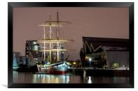 The Tall Ship at Glasgow Harbour, Framed Print