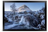 Buachaille waterfall, Framed Print