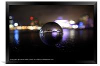 Salford Quays through a crystal ball, Framed Print