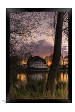Evening in Spring at the Lake 2013 II, Framed Print