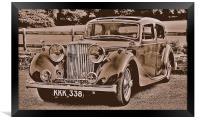 Jaguar Mk4, Framed Print