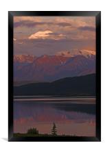 Midnight at Wonder Lake, Framed Print
