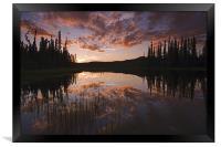 Yukon nights , Framed Print