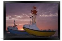 Danish sunset II, Framed Print