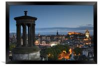 Edinburgh at blue hour, Framed Print