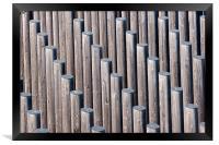 Diagonal sticks, Framed Print