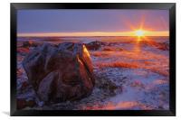 Arctic Sunset , Framed Print