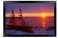 Arctic Sunset II , Framed Print