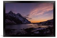 Unstad Evening, Framed Print