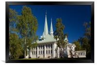 Church of Jokkmokk, Framed Print