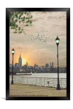 GOOD MORNING NEW YORK, Framed Print
