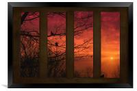 AS THE SUN GOES DOWN, Framed Print