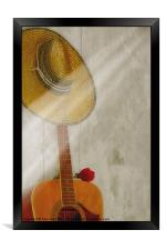 ONE NOTE, Framed Print