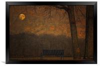 A PARK BENCH, Framed Print