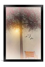 MORNING IN THE PARK, Framed Print