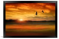 Sunset Serenity, Framed Print