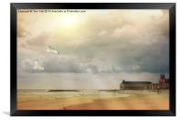 A Day At The Beach, Framed Print