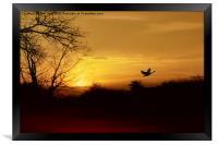 Red River Sunset, Framed Print