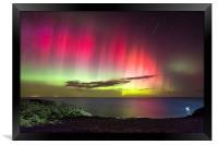 Northern Lights - St. Abbs Head, Framed Print