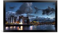 Darkside Tyneside Quayside, Framed Print