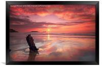SHIPWRECK SUNSET, Framed Print