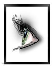 It's all in the Eyes, Framed Print