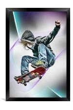 Extreme Skateboarding Jump Closeup