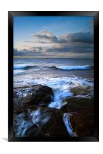 Gullane Bents Rocks, Framed Print