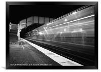 Midnight Express Train, Framed Print