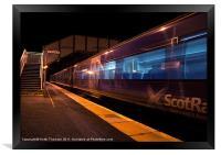 Night Train to Edinburgh, Framed Print