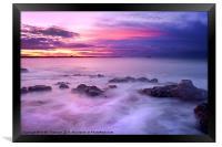 Guille Purple Sunset, Framed Print