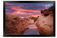 Red Rock Sunset, Framed Print