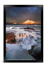 Dunbar Evening Sea Waves, Framed Print