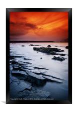 Seton Sands Sunset, Framed Print