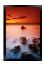 Sunset Sea, Framed Print