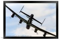 Lancasters Little Shadow, Framed Print