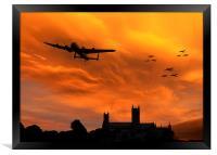 Lancaster Lincoln Sunset, Framed Print