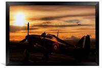 Hurricane Sunset, Framed Print