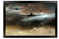 Normandy Invasion, Framed Print