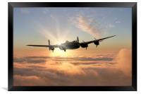 Avro Lancaster Bomber , Framed Print
