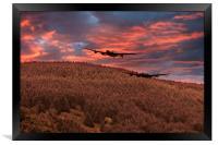 Sunset Over The Dam , Framed Print
